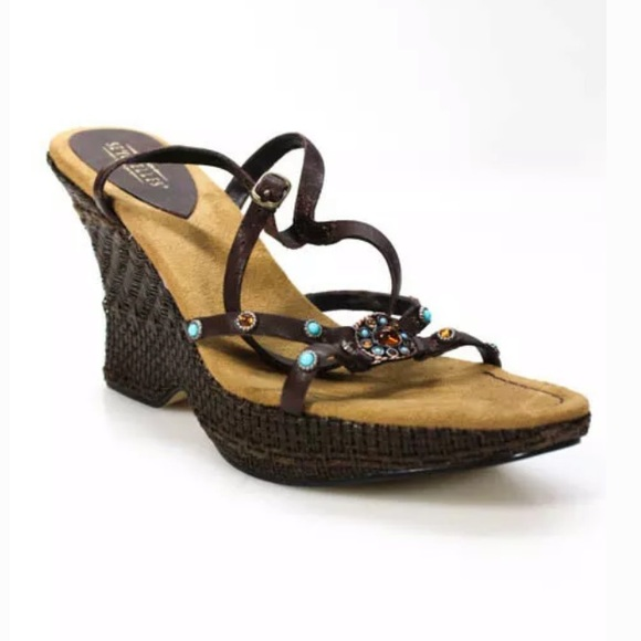 Seychelles Shoes - SEYCHELLES LEATHER PLATFORM WEDGE SANDALS SZ 9 NIB